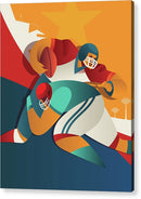 Stylized Football Player, 2 of 3 Set - Acrylic Print from Wallasso - The Wall Art Superstore