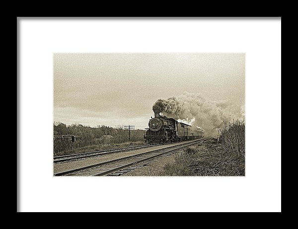 Stylized Locomotive Digital Art - Framed Print from Wallasso - The Wall Art Superstore