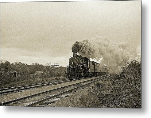 Stylized Locomotive Digital Art - Metal Print from Wallasso - The Wall Art Superstore