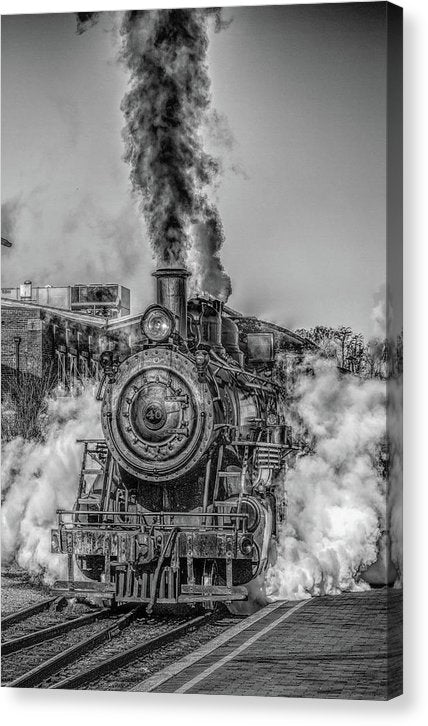 Stylized Locomotive - Canvas Print from Wallasso - The Wall Art Superstore