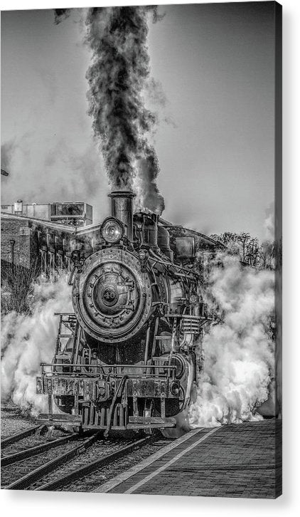 Stylized Locomotive - Acrylic Print from Wallasso - The Wall Art Superstore