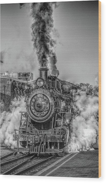 Stylized Locomotive - Wood Print from Wallasso - The Wall Art Superstore