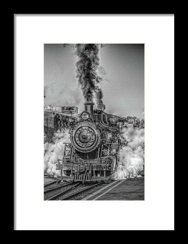 Stylized Locomotive - Framed Print from Wallasso - The Wall Art Superstore