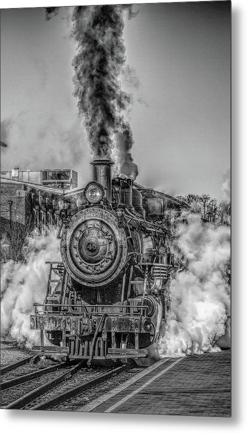 Stylized Locomotive - Metal Print from Wallasso - The Wall Art Superstore