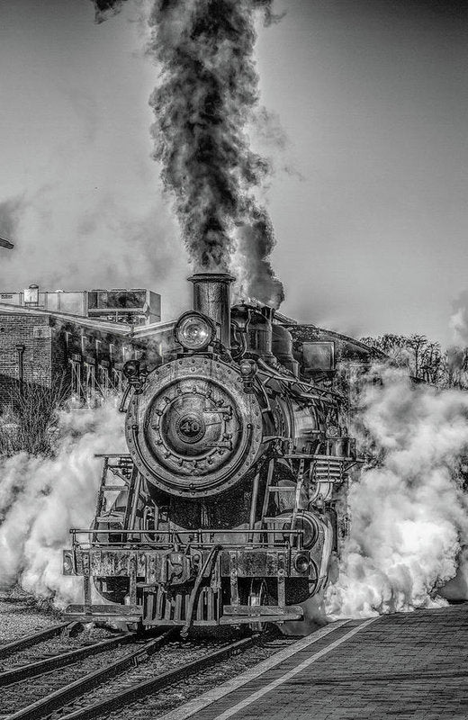 Stylized Locomotive - Art Print from Wallasso - The Wall Art Superstore