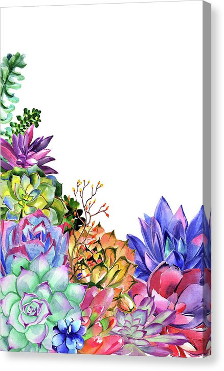 Succulent Bouquet - Canvas Print from Wallasso - The Wall Art Superstore