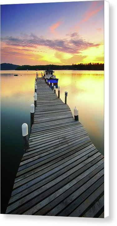 Sunrise Boardwalk Vertoramic - Canvas Print from Wallasso - The Wall Art Superstore