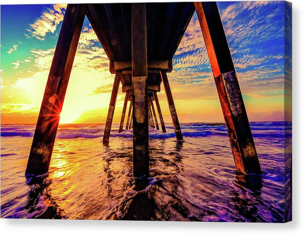 Super Colorful Underside of Pier - Canvas Print from Wallasso - The Wall Art Superstore