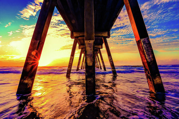 Super Colorful Underside of Pier - Art Print from Wallasso - The Wall Art Superstore