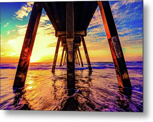 Super Colorful Underside of Pier - Metal Print from Wallasso - The Wall Art Superstore