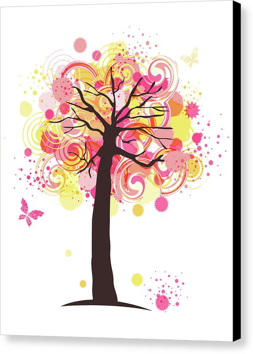 Swirly Colorful Tree For Kids - Canvas Print from Wallasso - The Wall Art Superstore