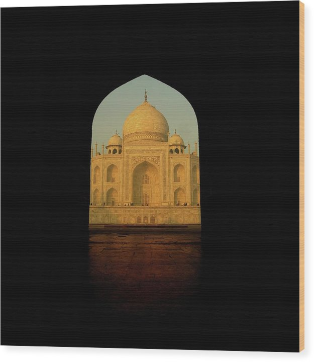 Taj Mahal Through Archway - Wood Print from Wallasso - The Wall Art Superstore