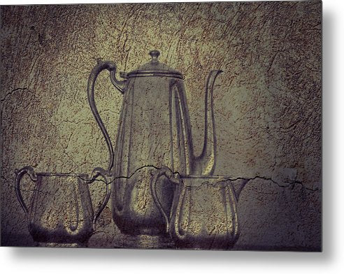 Teapot With Texture - Metal Print from Wallasso - The Wall Art Superstore
