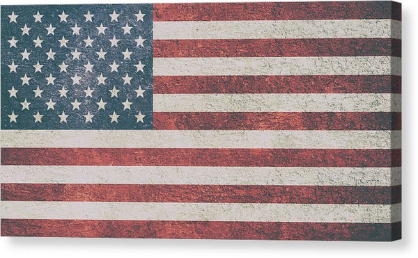 Textured American Flag - Canvas Print from Wallasso - The Wall Art Superstore