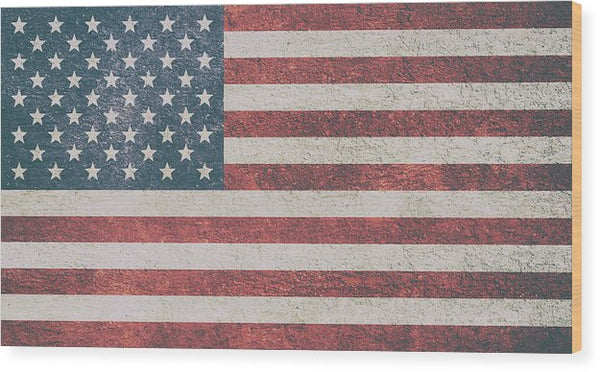 Textured American Flag - Wood Print from Wallasso - The Wall Art Superstore