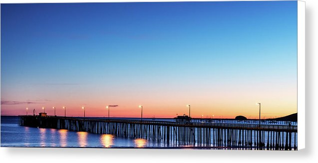 The Avila Beach Pier At Sunset, San Luis Obispo, California - Canvas Print from Wallasso - The Wall Art Superstore
