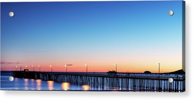The Avila Beach Pier At Sunset, San Luis Obispo, California - Acrylic Print from Wallasso - The Wall Art Superstore