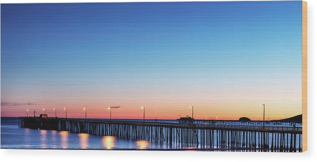 The Avila Beach Pier At Sunset, San Luis Obispo, California - Wood Print from Wallasso - The Wall Art Superstore