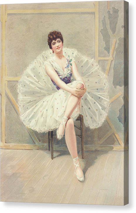 The Belle of The Ballet by Julius Mendes Price, 1899 - Canvas Print from Wallasso - The Wall Art Superstore