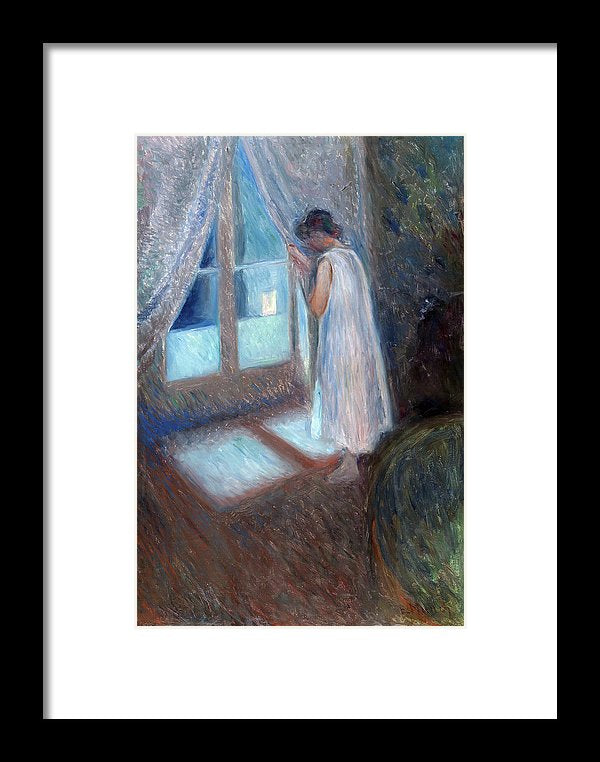 The Girl by The Window by Edvard Munch, 1893 - Framed Print from Wallasso - The Wall Art Superstore