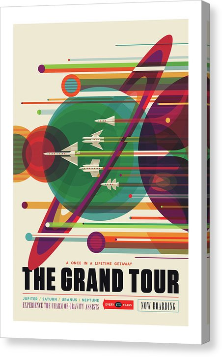 The Grand Tour Visions of The Future Vintage Travel Poster - Canvas Print from Wallasso - The Wall Art Superstore