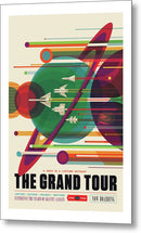The Grand Tour Visions of The Future Vintage Travel Poster - Metal Print from Wallasso - The Wall Art Superstore