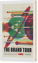 The Grand Tour Visions of The Future Vintage Travel Poster - Wood Print from Wallasso - The Wall Art Superstore