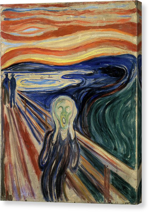 The Scream by Edvard Munch, 1893 - Canvas Print from Wallasso - The Wall Art Superstore