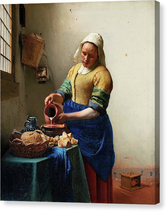 The Milkmaid by Johannes Vermeer, 1660 - Canvas Print from Wallasso - The Wall Art Superstore