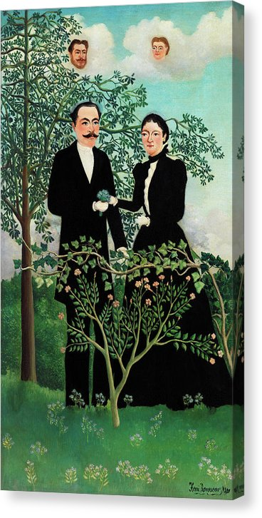 The Past and The Present, Or Philosophical Thought by Henri Rousseau, 1899 - Canvas Print from Wallasso - The Wall Art Superstore