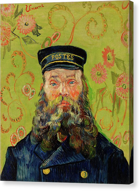 The Postman Joseph Roulin By Vincent Van Gogh, 1888 - Canvas Print from Wallasso - The Wall Art Superstore