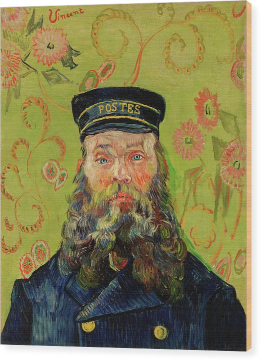 The Postman Joseph Roulin by Vincent van Gogh, 1888 - Wood Print from Wallasso - The Wall Art Superstore
