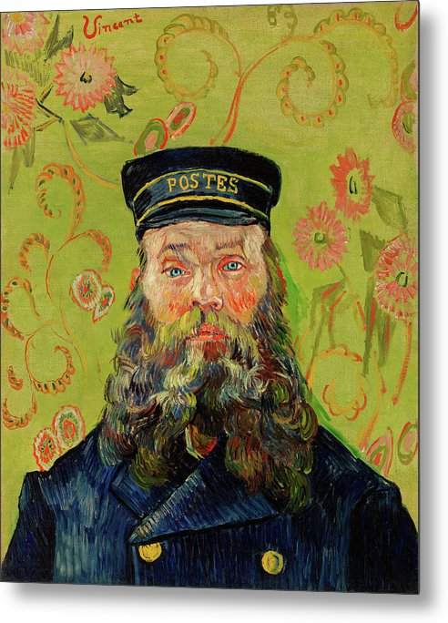 The Postman Joseph Roulin by Vincent van Gogh, 1888 - Metal Print from Wallasso - The Wall Art Superstore