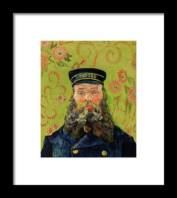 The Postman Joseph Roulin by Vincent van Gogh, 1888 - Framed Print from Wallasso - The Wall Art Superstore