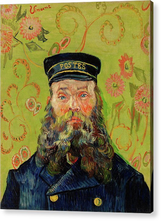The Postman Joseph Roulin by Vincent van Gogh, 1888 - Acrylic Print from Wallasso - The Wall Art Superstore