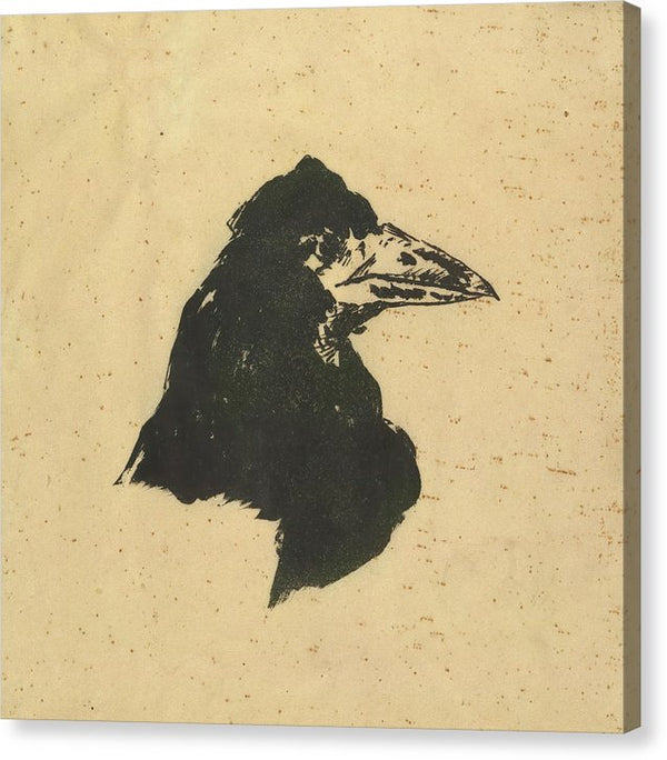 The Raven by Edgar Allan Poe Vintage Poster Art by Edouard Manet - Canvas Print from Wallasso - The Wall Art Superstore