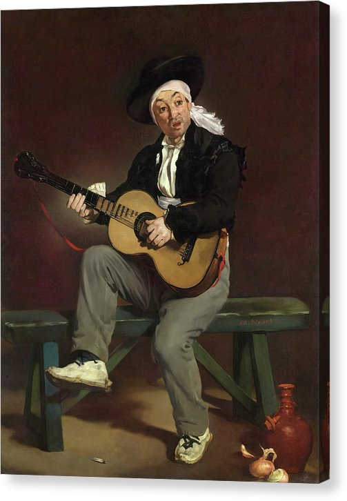 The Spanish Singer By Edouard Manet, 1860 - Canvas Print from Wallasso - The Wall Art Superstore