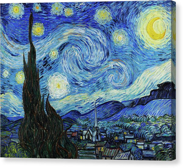 The Starry Night by Vincent van Gogh, 1889 - Canvas Print from Wallasso - The Wall Art Superstore