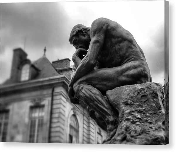 The Thinker Statue by Auguste Rodin - Canvas Print from Wallasso - The Wall Art Superstore