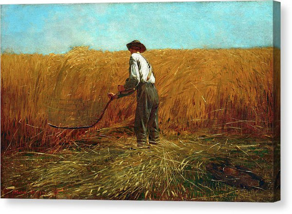 The Veteran In A New Field by Winslow Homer, 1865 - Canvas Print from Wallasso - The Wall Art Superstore
