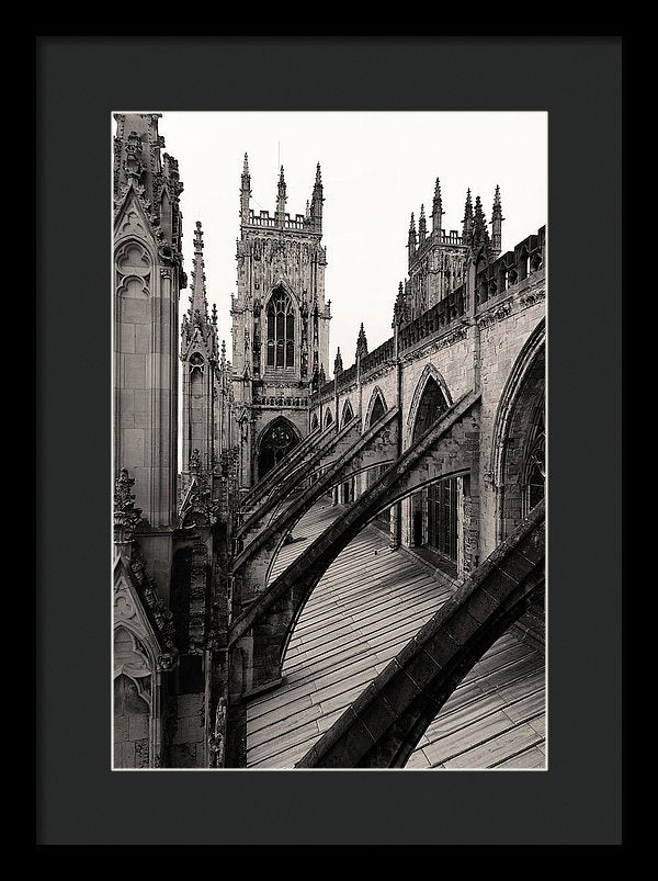 Towers and Buttresses of York Minster Church - Framed Print from Wallasso - The Wall Art Superstore