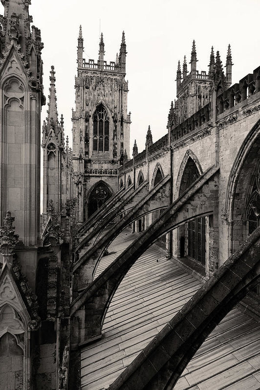Towers and Buttresses of York Minster Church - Art Print from Wallasso - The Wall Art Superstore