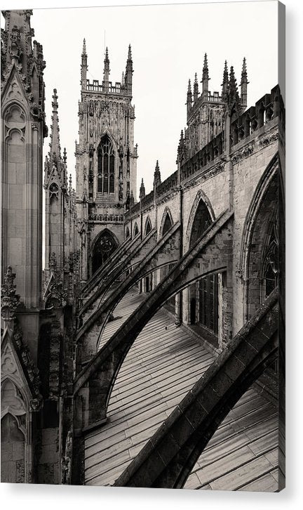 Towers and Buttresses of York Minster Church - Acrylic Print from Wallasso - The Wall Art Superstore
