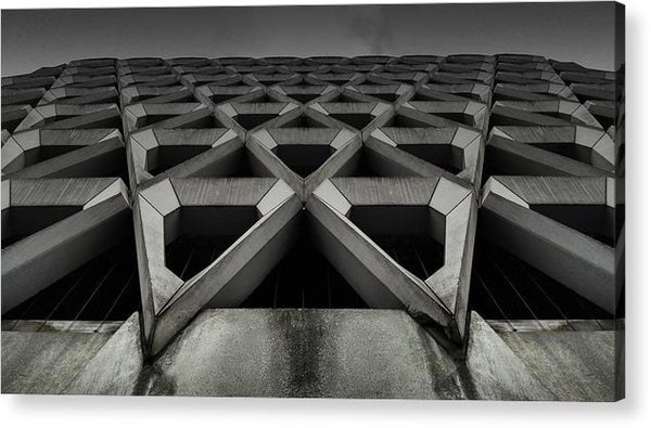 Triangular Wall Design - Acrylic Print from Wallasso - The Wall Art Superstore
