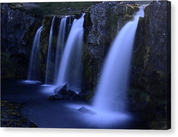 Triple Waterfalls In Iceland - Canvas Print from Wallasso - The Wall Art Superstore