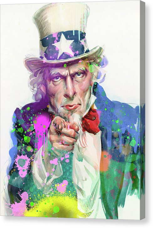 Uncle Sam I Want You Pop Art - Canvas Print from Wallasso - The Wall Art Superstore
