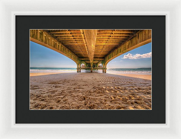 Under A Colorful Pier - Framed Print from Wallasso - The Wall Art Superstore
