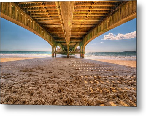 Under A Colorful Pier - Metal Print from Wallasso - The Wall Art Superstore