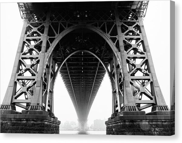 Underneath Bridge, Black and White - Canvas Print from Wallasso - The Wall Art Superstore