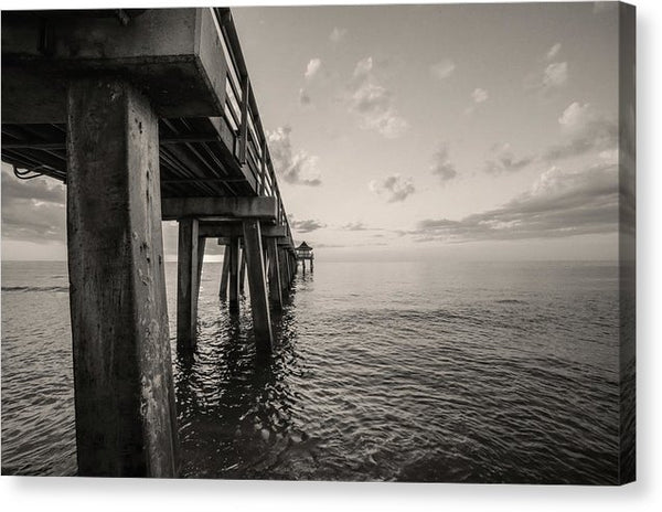 Underside of Pier - Canvas Print from Wallasso - The Wall Art Superstore